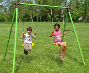 altalena da giardino per bambini newplast